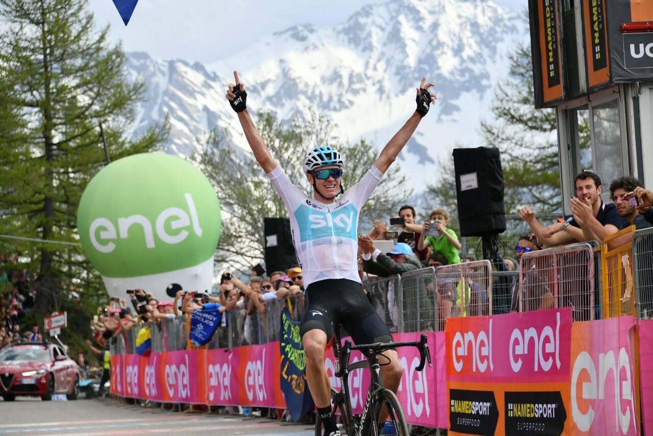 Impresa di Chris Froome nella 19/a tappa del Giro d'Italia