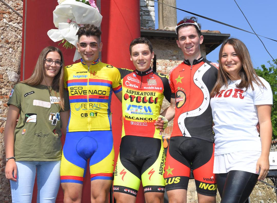Il podio della gara Allievi di Ronco di Gussago