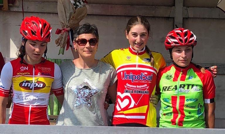 Il podio della gara Esordienti 2° anno di San Marino di Carpi