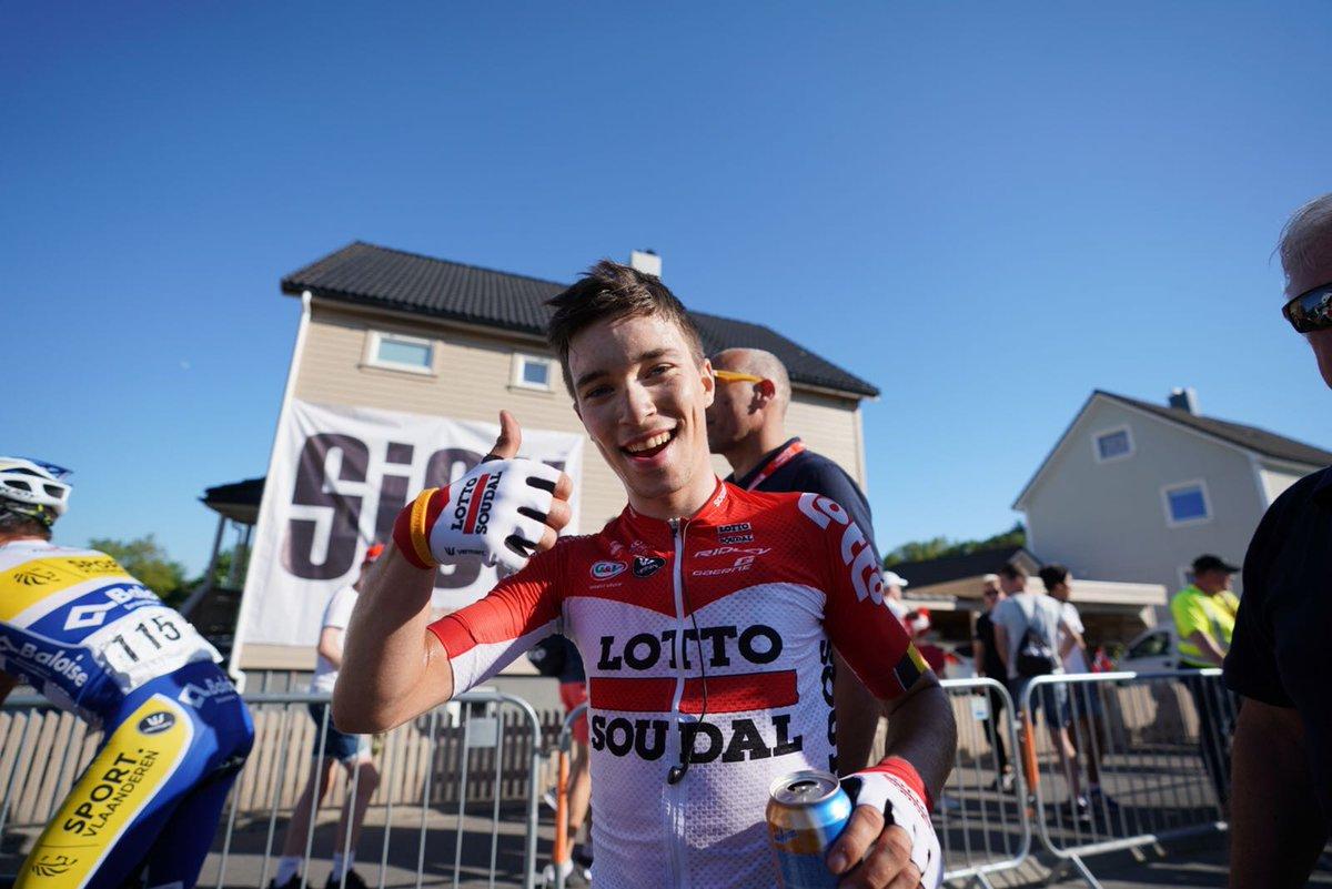 Bjorg Lambrecht vincitore della terza tappa del Tour des Fjords