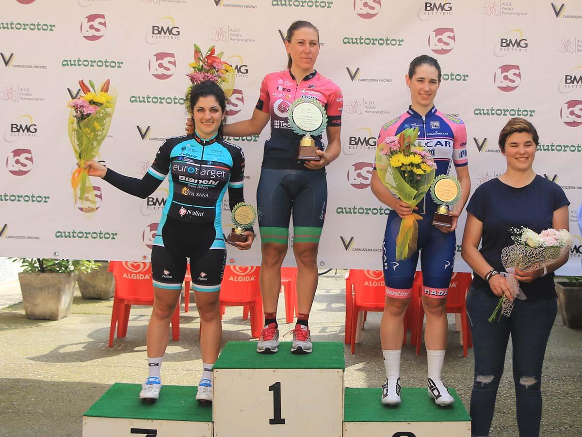 Il podio Donne Elite di Romanengo