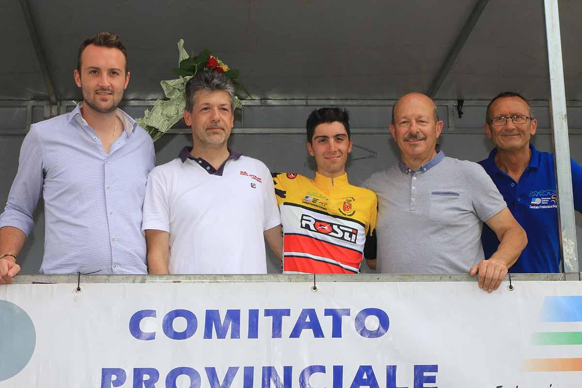 Samuele Rubino premiato come campione provinciale bergamasco 2018
