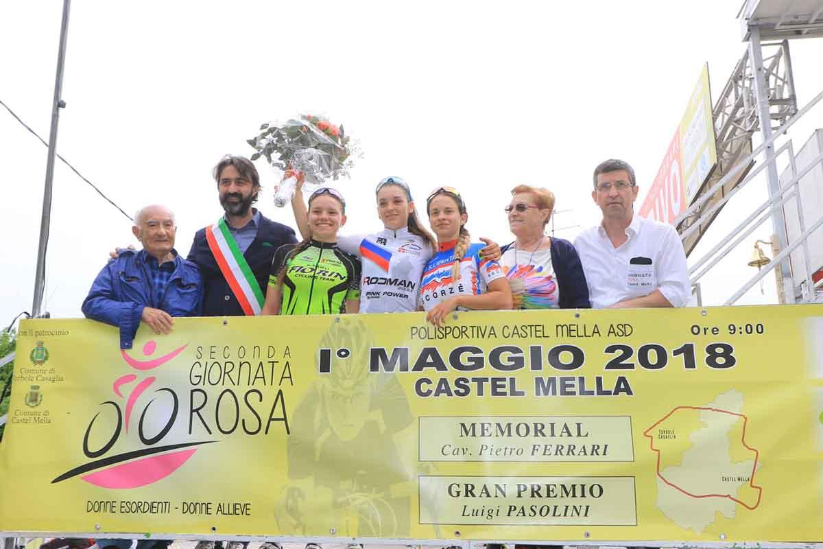 Il podio della gara Donne Allieve di Castel Mella