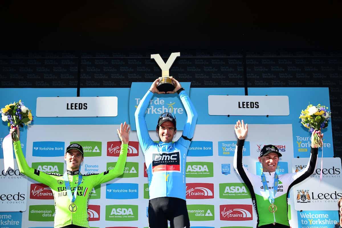 Il podio finale del Tour de Yorkshire 2018