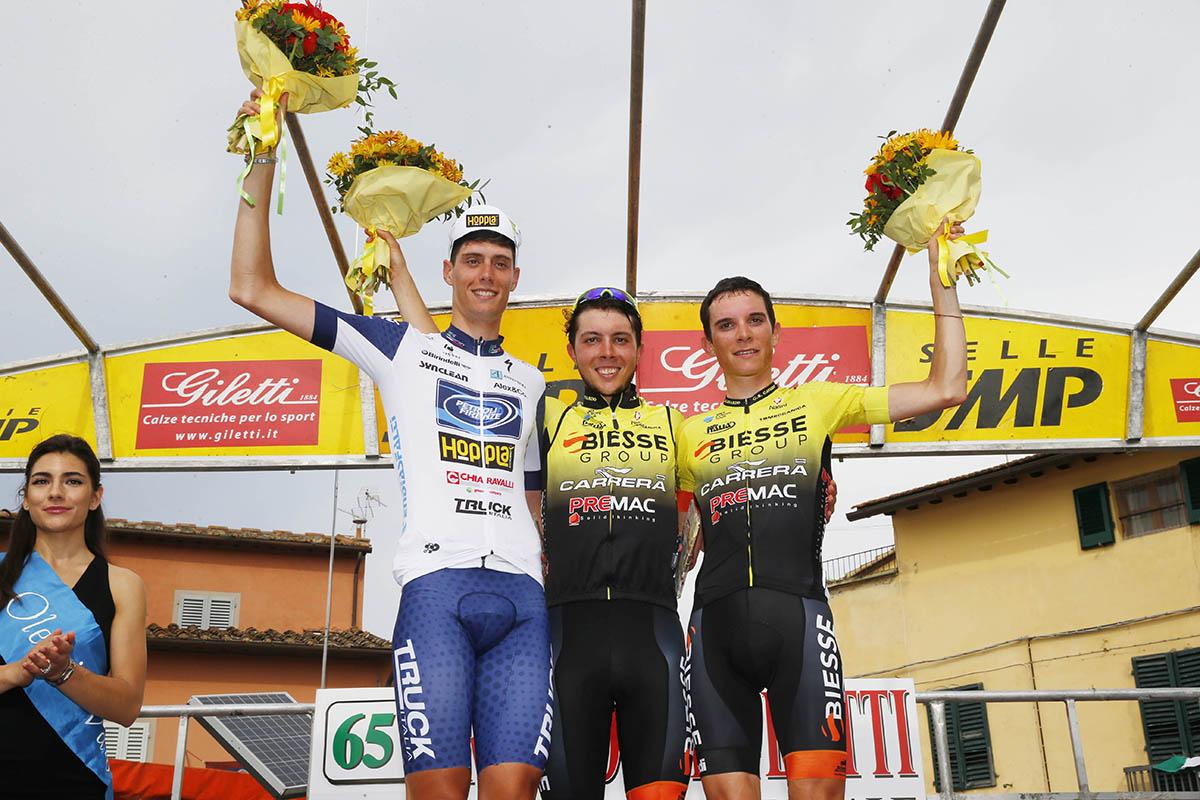 Il podio del Trofeo Matteotti di Marcialla
