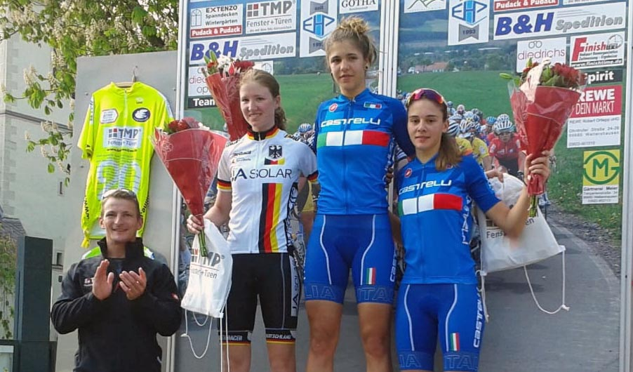 Elisa Tonelli vince l'ultima prova in linea del Memorial Gerd Hufschmidt di Gotha