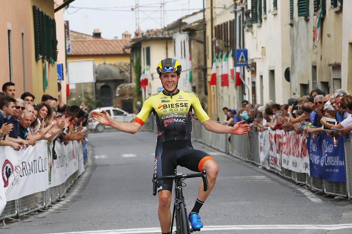 La vittoria di Simone Ravanelli nel 65° Trofeo Matteotti di Marcialla