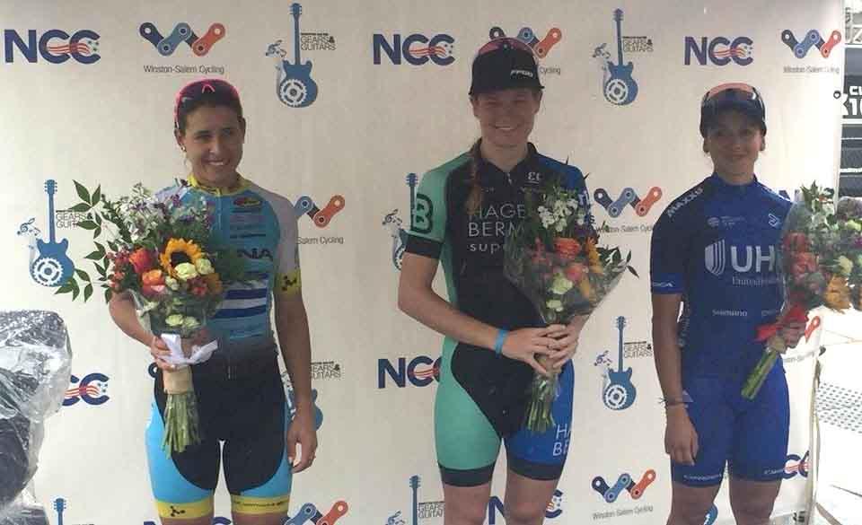 Il podio della Winston Salem Cycling Classic femminile