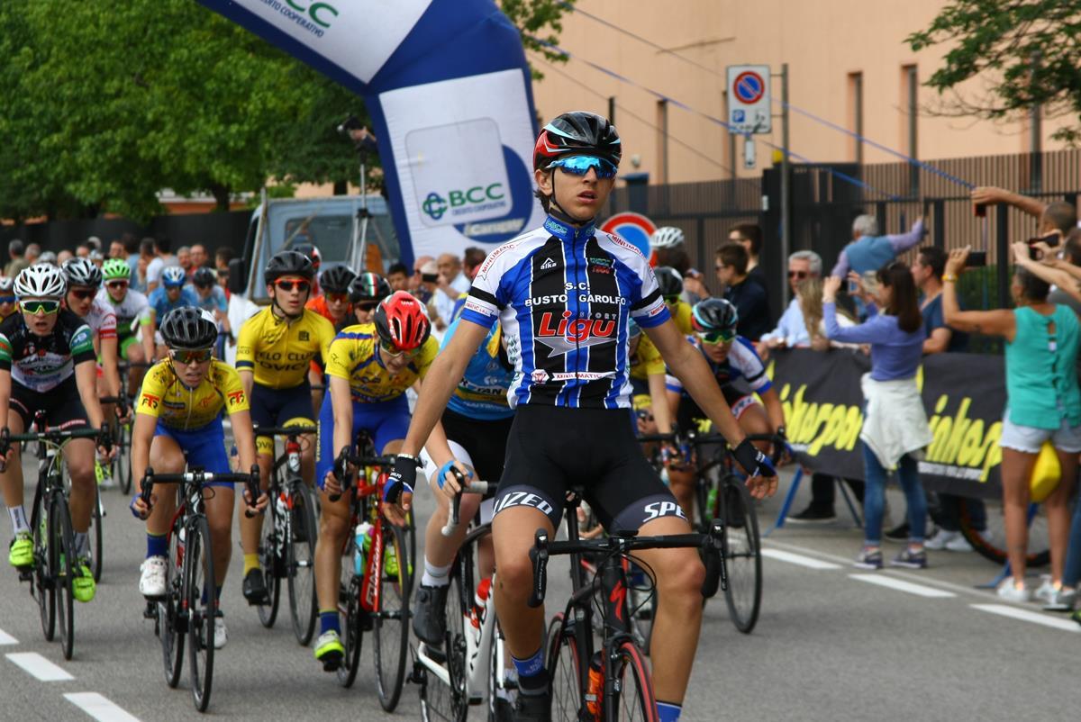La vittoria di Dario Igor Belletta nella gara Esordienti 2° anno di Brugherio
