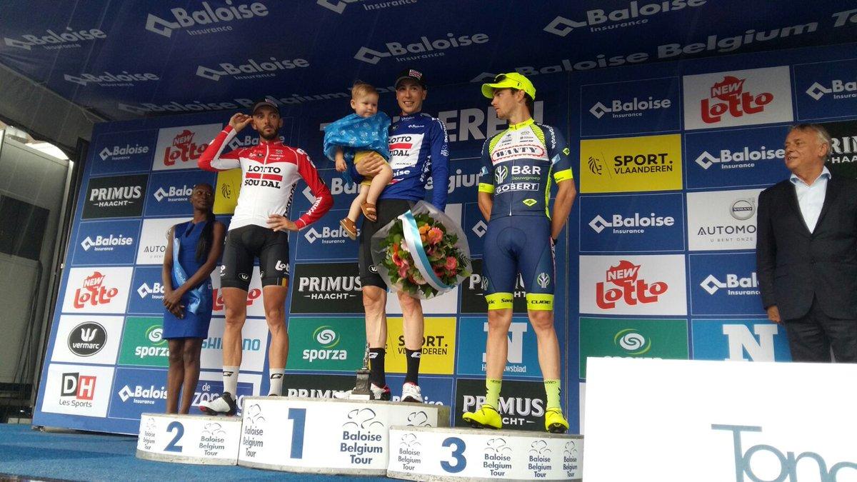 Il podio finale del Belgium Tour 2018 vinto da Jens Keukeleire