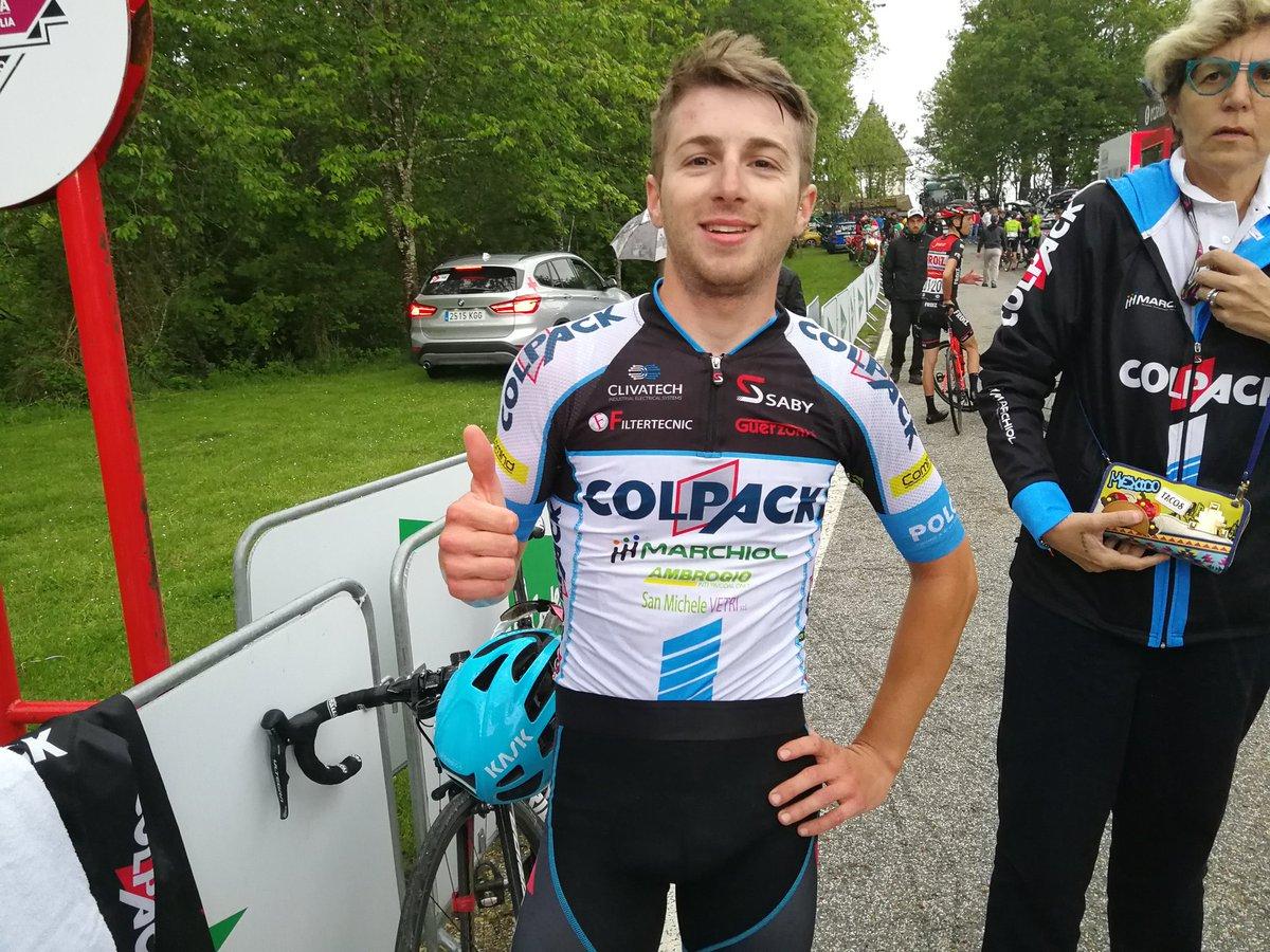 Francesco Romano vincitore della quarta tappa della Vuelta a Navarra