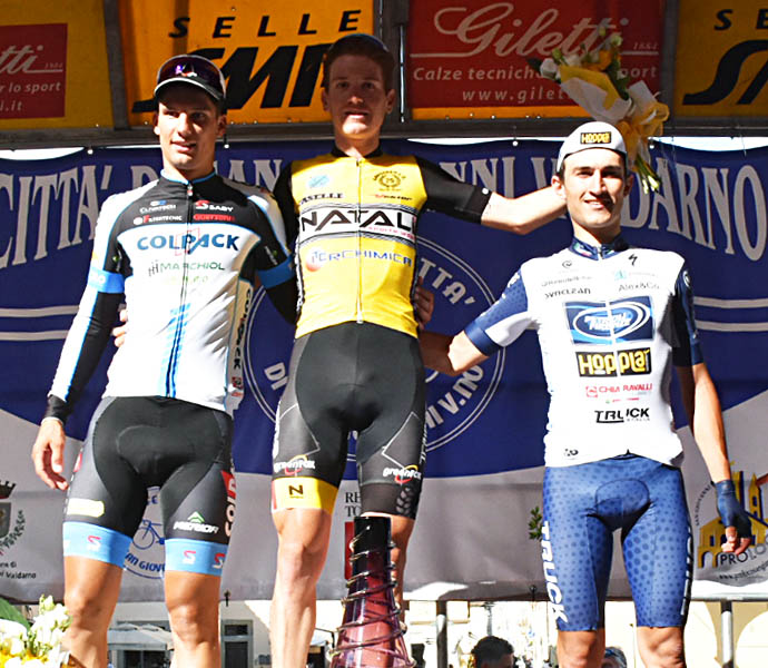 Il podio del Trofeo Città di San Giovanni Valdarno 2018