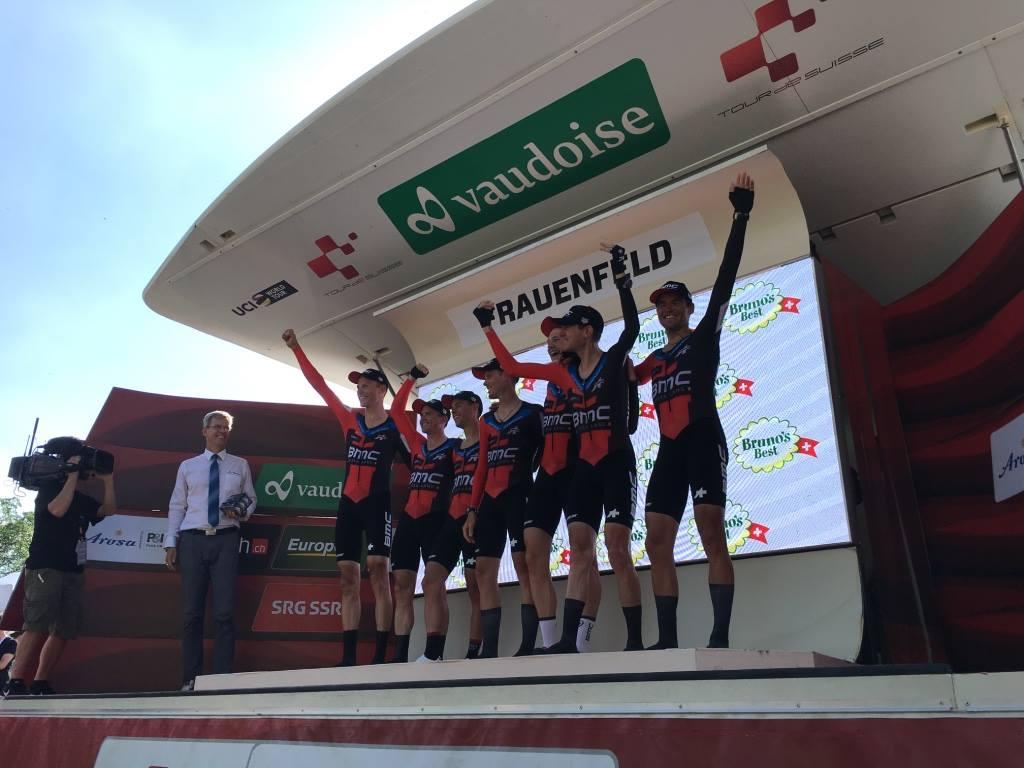 La BMC Racing Team vince la cronosquadre valida quale prima tappa del Tour de Suisse 2018