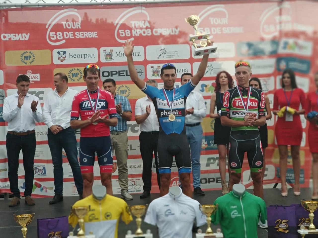 Nicolas Tivani vincitore della prima tappa del Tour of Serbia