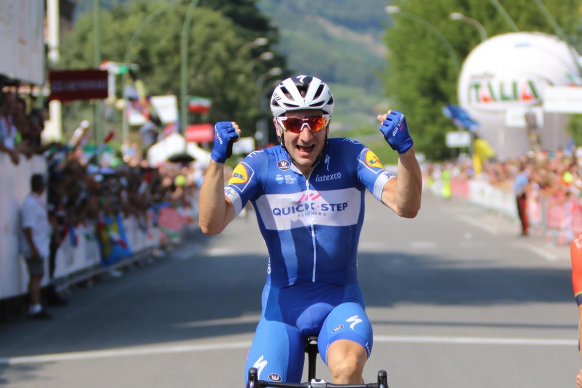 Elia Viviani vince il Campionato Italiano 2018 a Darfo Boario Terme