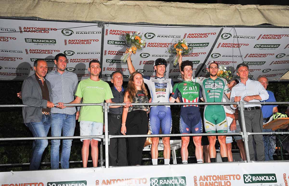 Il podio del 35° Trofeo Antonietto Rancilio