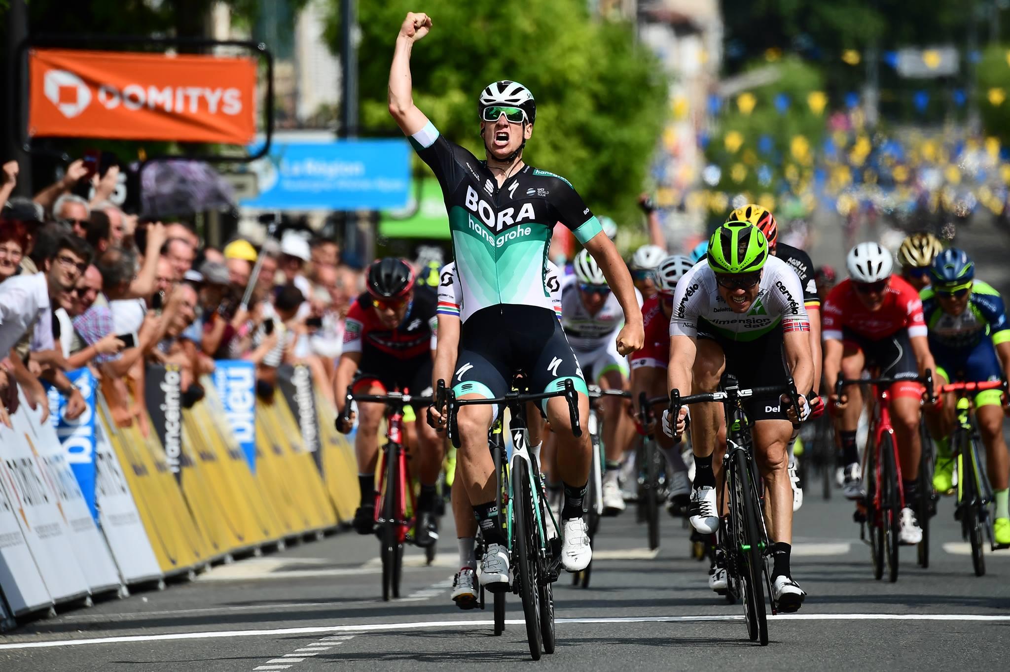 Pascal Ackermann vince la seconda tappa del Critérium du Dauphiné 2018