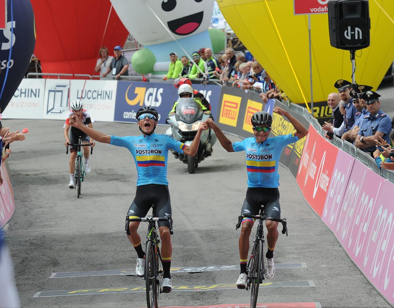 L'arrivo della quarta tappa del Giro d'Italia Under 23 al Passo Maniva