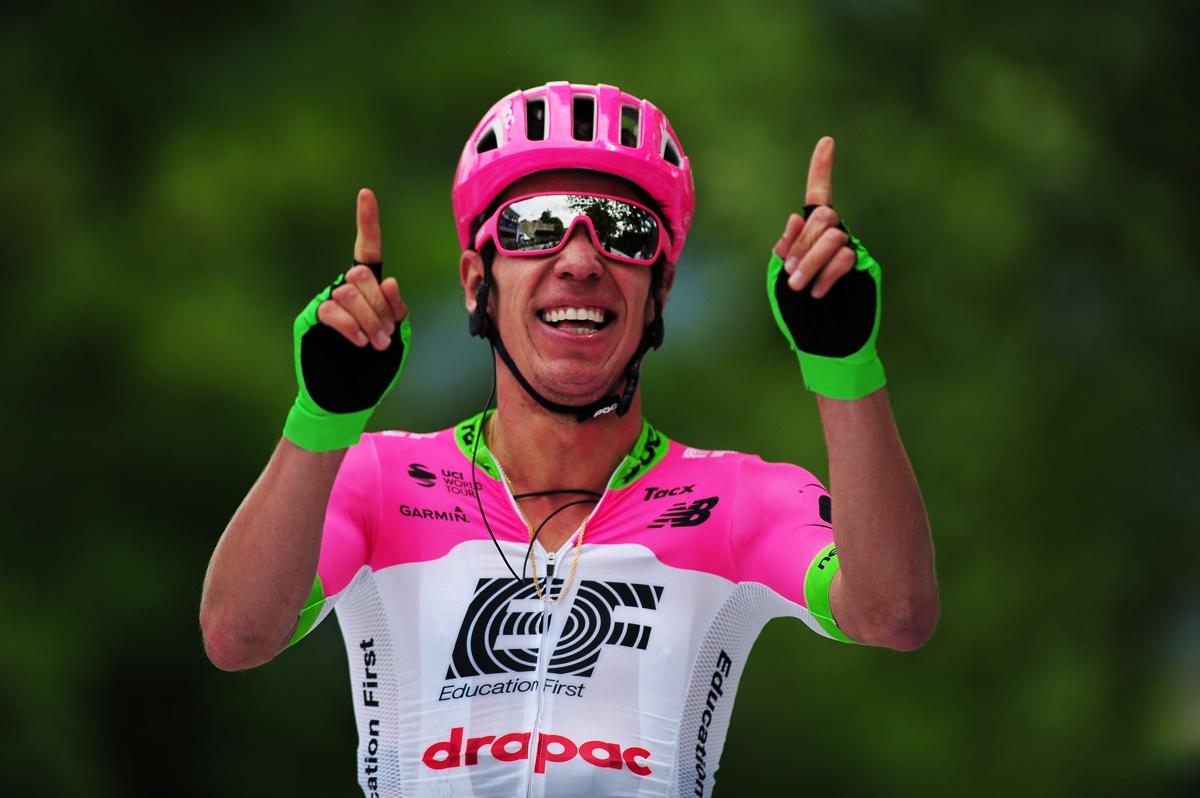 Rigoberto Uran vincitore della terza tappa del Tour of Slovenia 2018