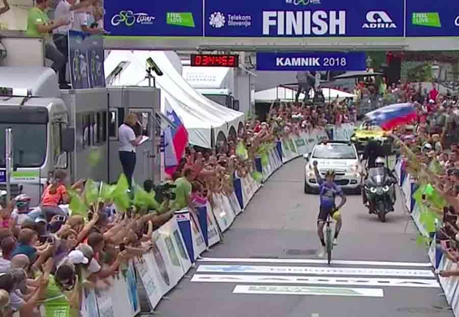 Primoz Roglic vince la quarta tappa del Tour of Slovenia 2018