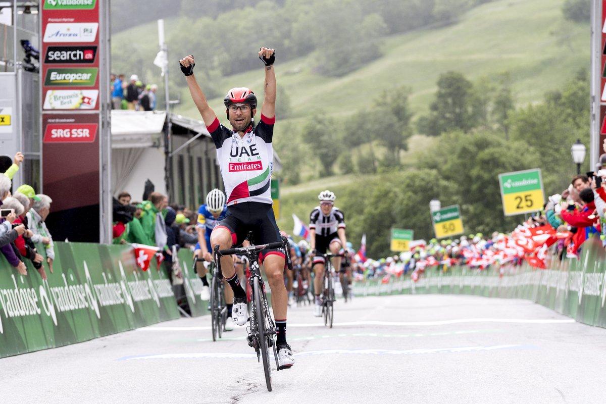 Diego Ulissi vince la quinta tappa del Tour de Suisse 2018