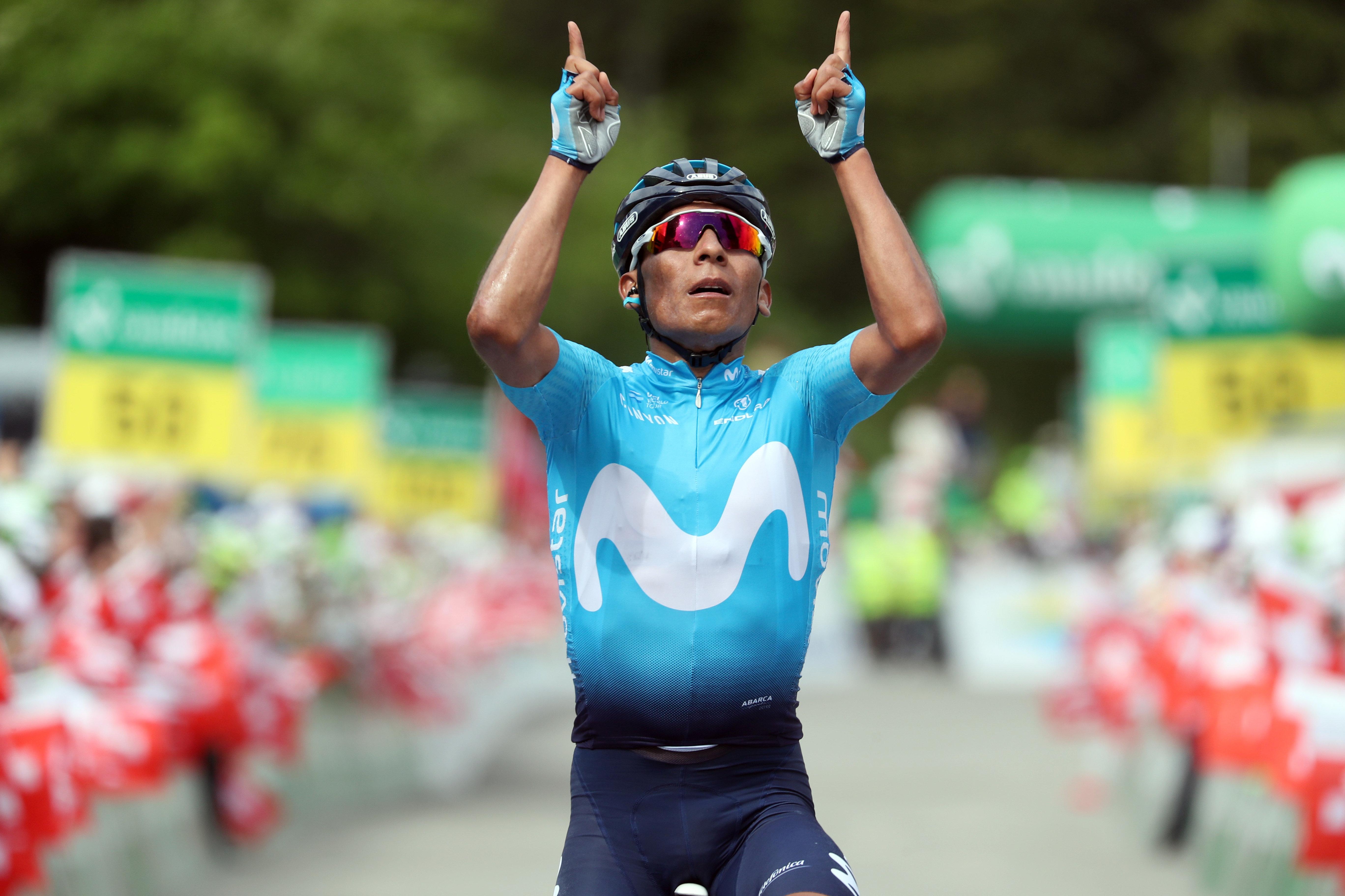 Nairo Quintana vincitore della settima tappa del Tour de Suisse