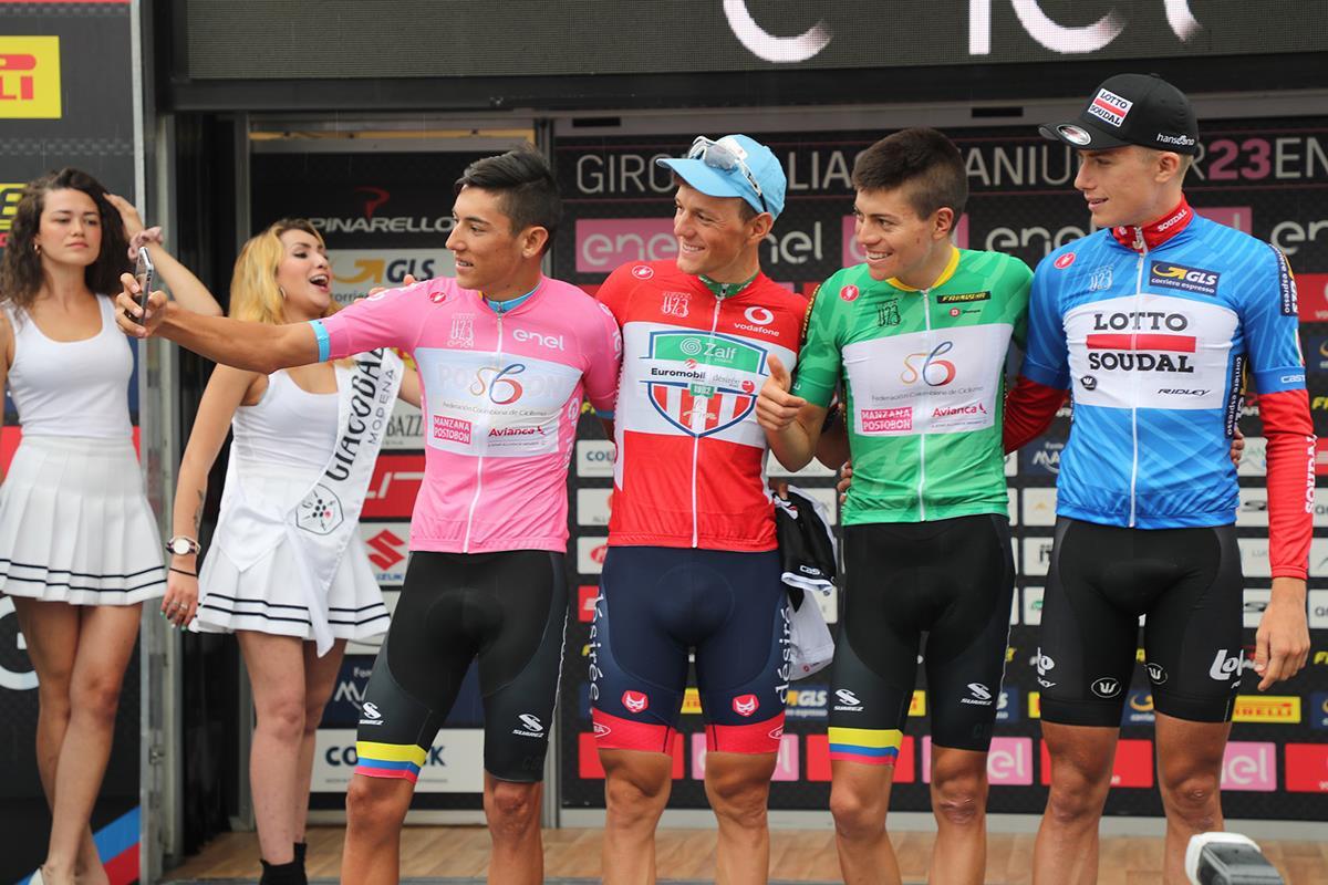 Le maglie del Giro d'Italia Under 23 dopo la sesta tappa