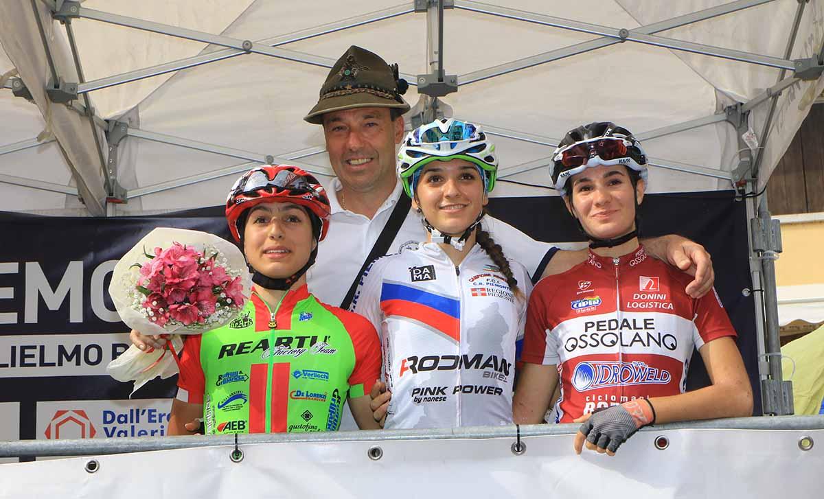 Il podio della gara Donne Allieve di Sabbio Chiese
