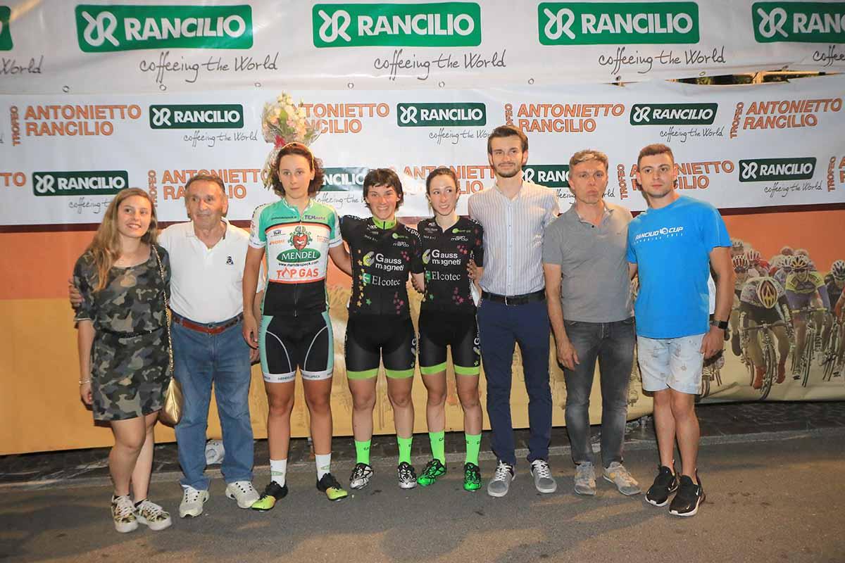 Il podio Donne Junior del Trofeo Rancilio 2018
