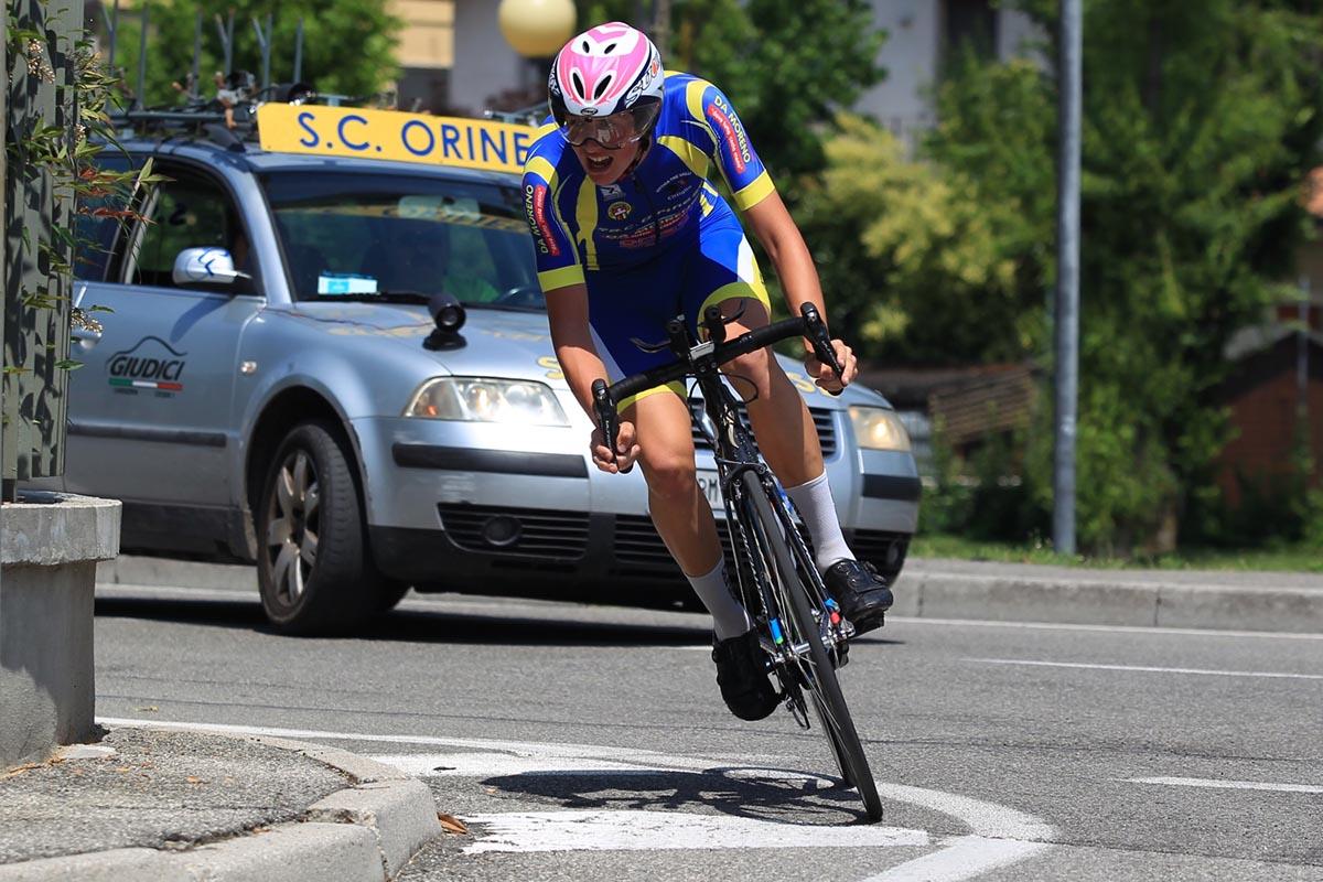 Christian Bagatin in azione a Ospitaletto (foto Fabiano Ghilardi)