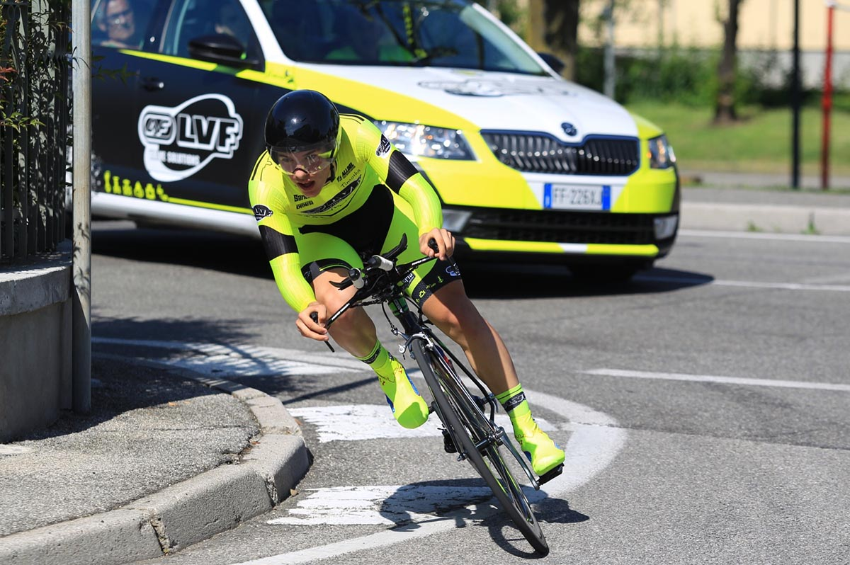 Tomas Trainini in azione a Ospitaletto (foto Fabiano Ghilardi)