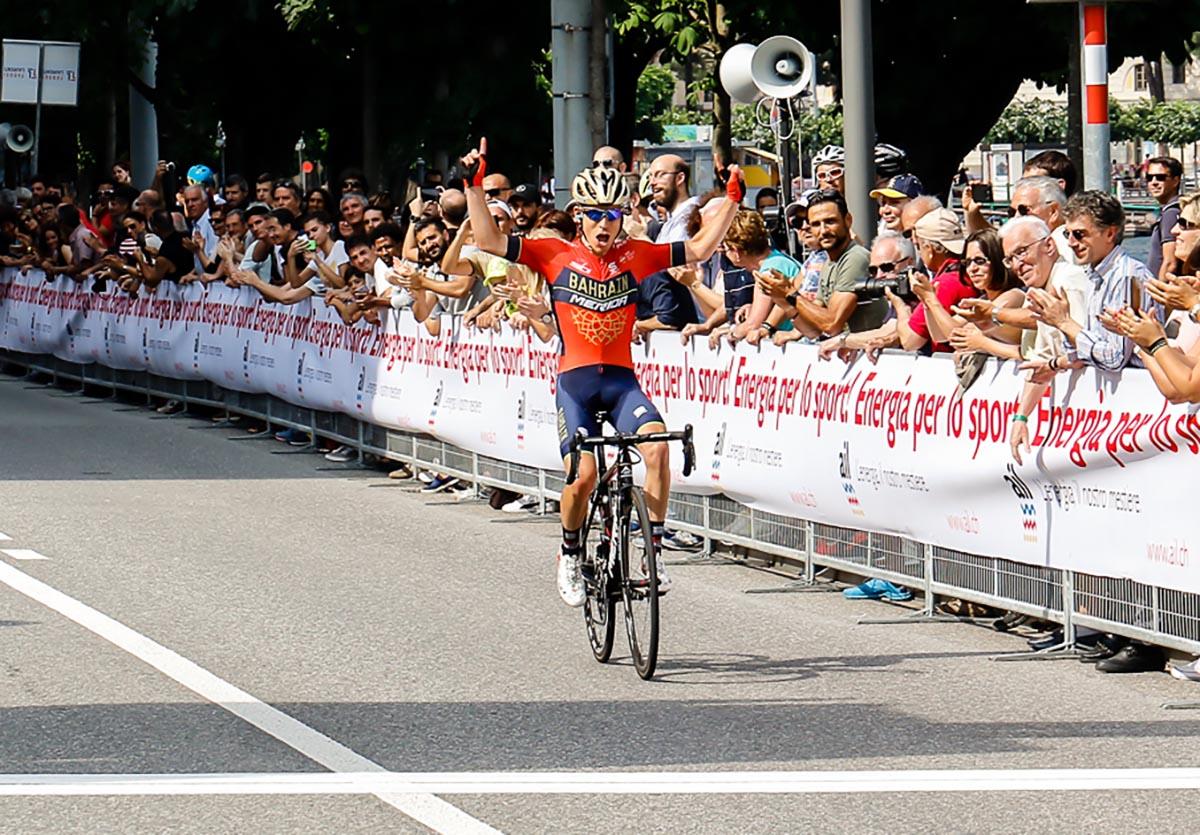 La vittoria di Hermann Pernsteiner al Gran Premio Città di Lugano 2018 (foto Giordano Azzimonti)