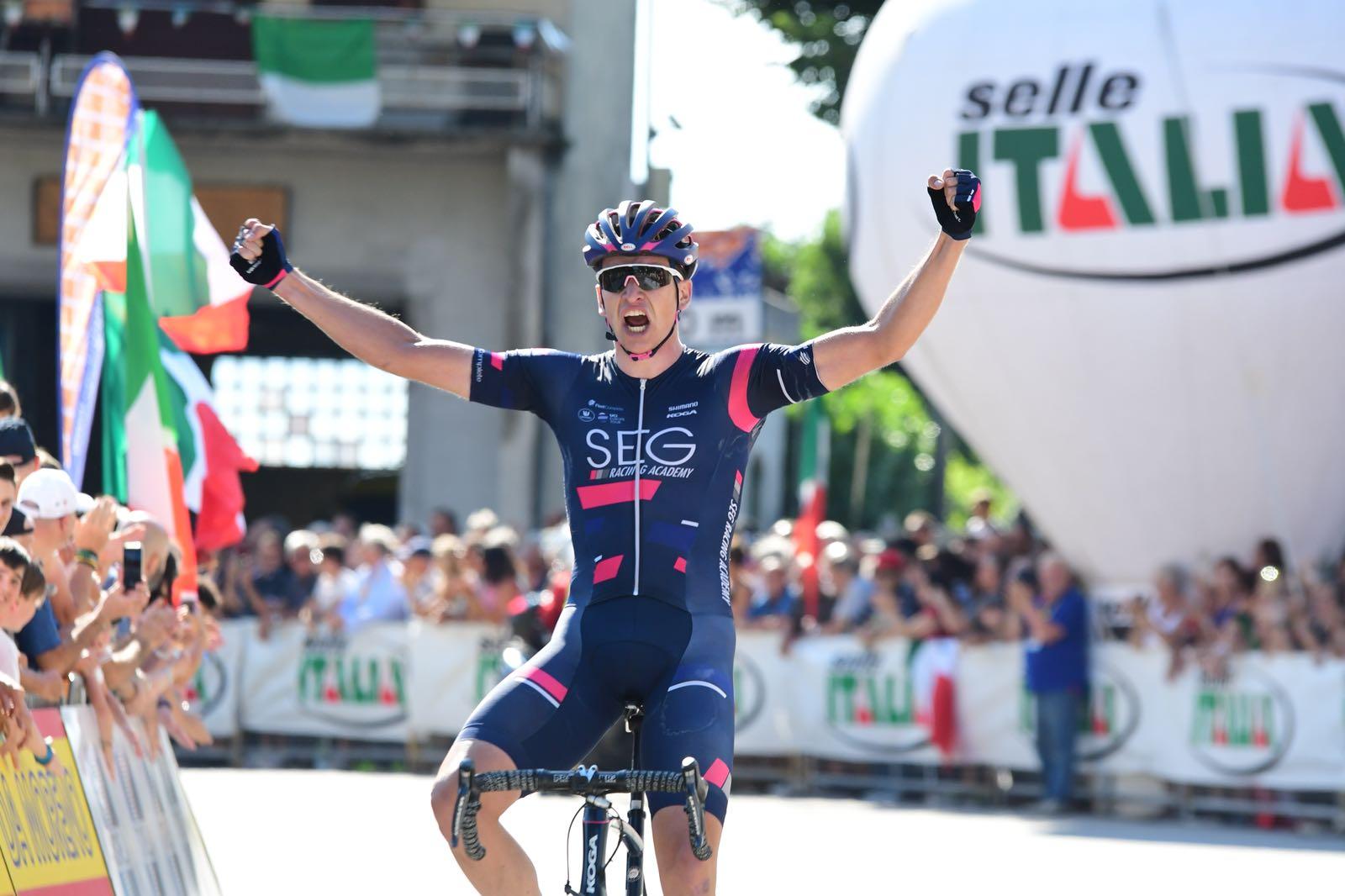 Edoardo Affini vince il Campionato Italiano Under 23 2018 a Taino