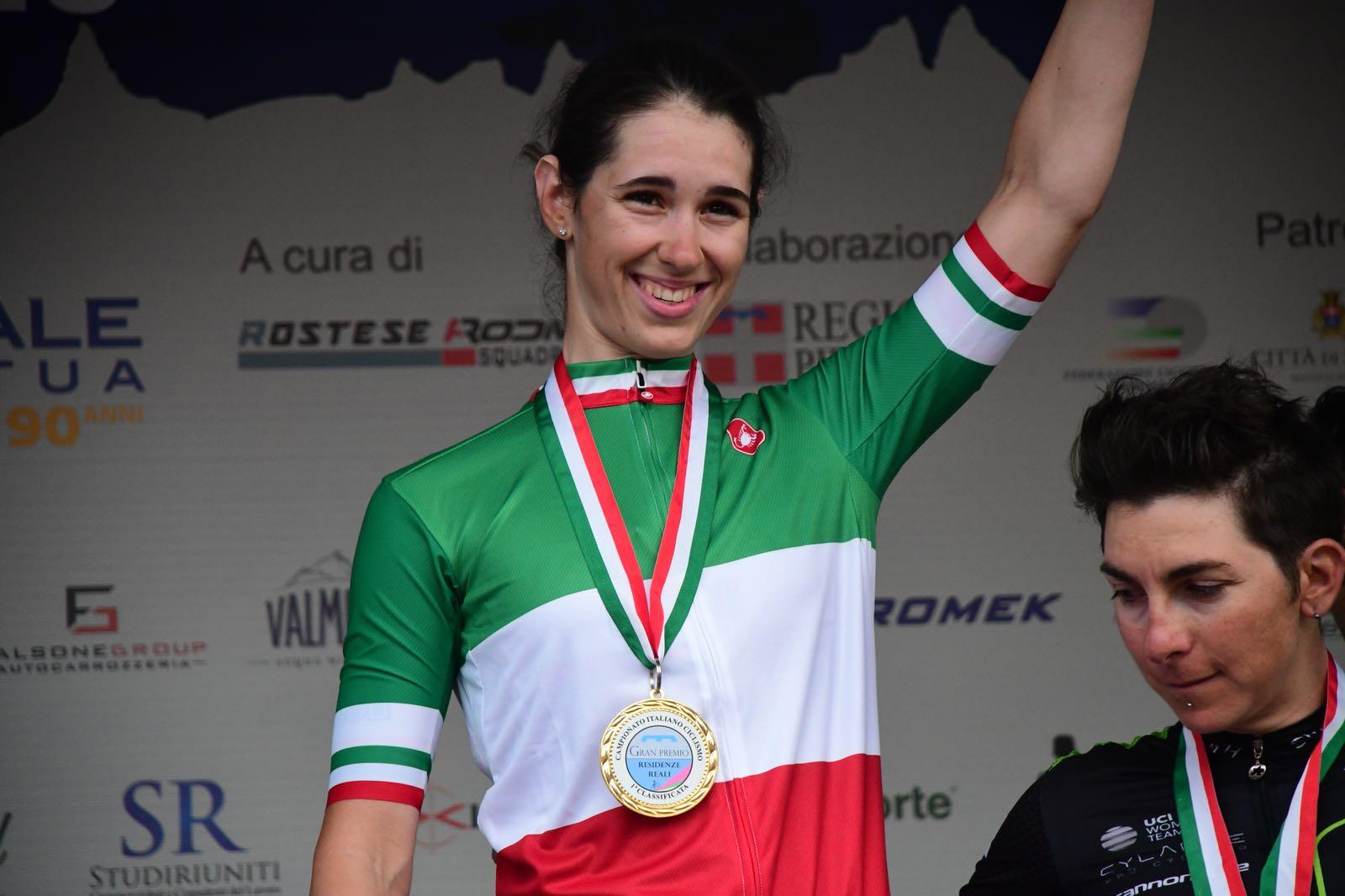 Marta Cavalli campionessa italiana Donne Elite 2018 ad Agliè