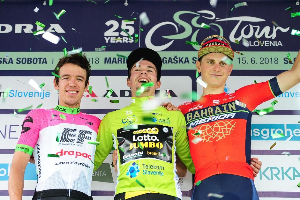 Primoz Roglic vince il Tour of Slovenia 2018, il podio finale