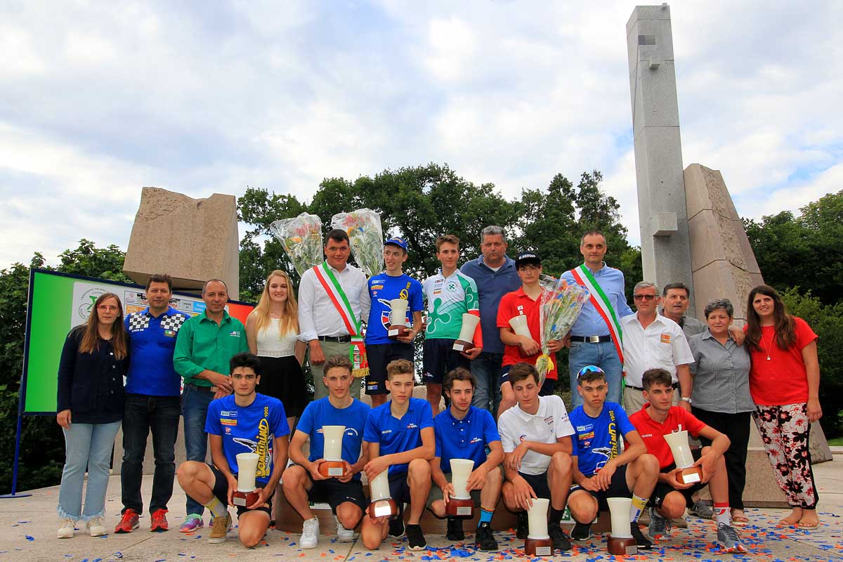 Il podio finale del Trofeo Da Moreno - Campionato Lombardo Juniores 2018