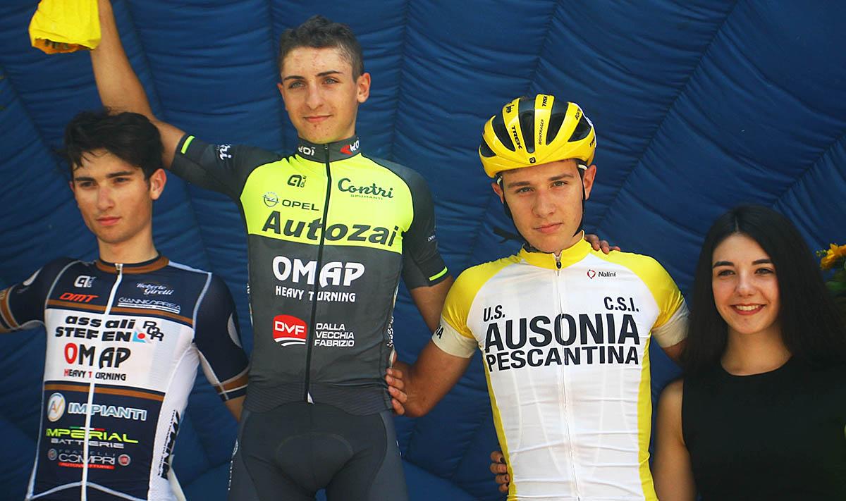 Il podio del Trofeo Città di San Martino Buon Albergo