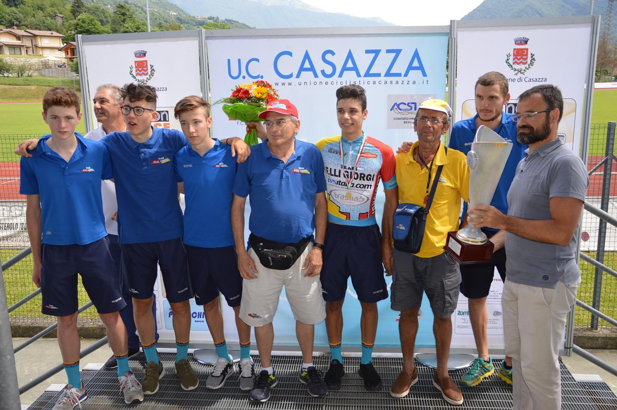 Festa degli Allievi del Team Giorgi al 23° Trofeo Comune Casazza