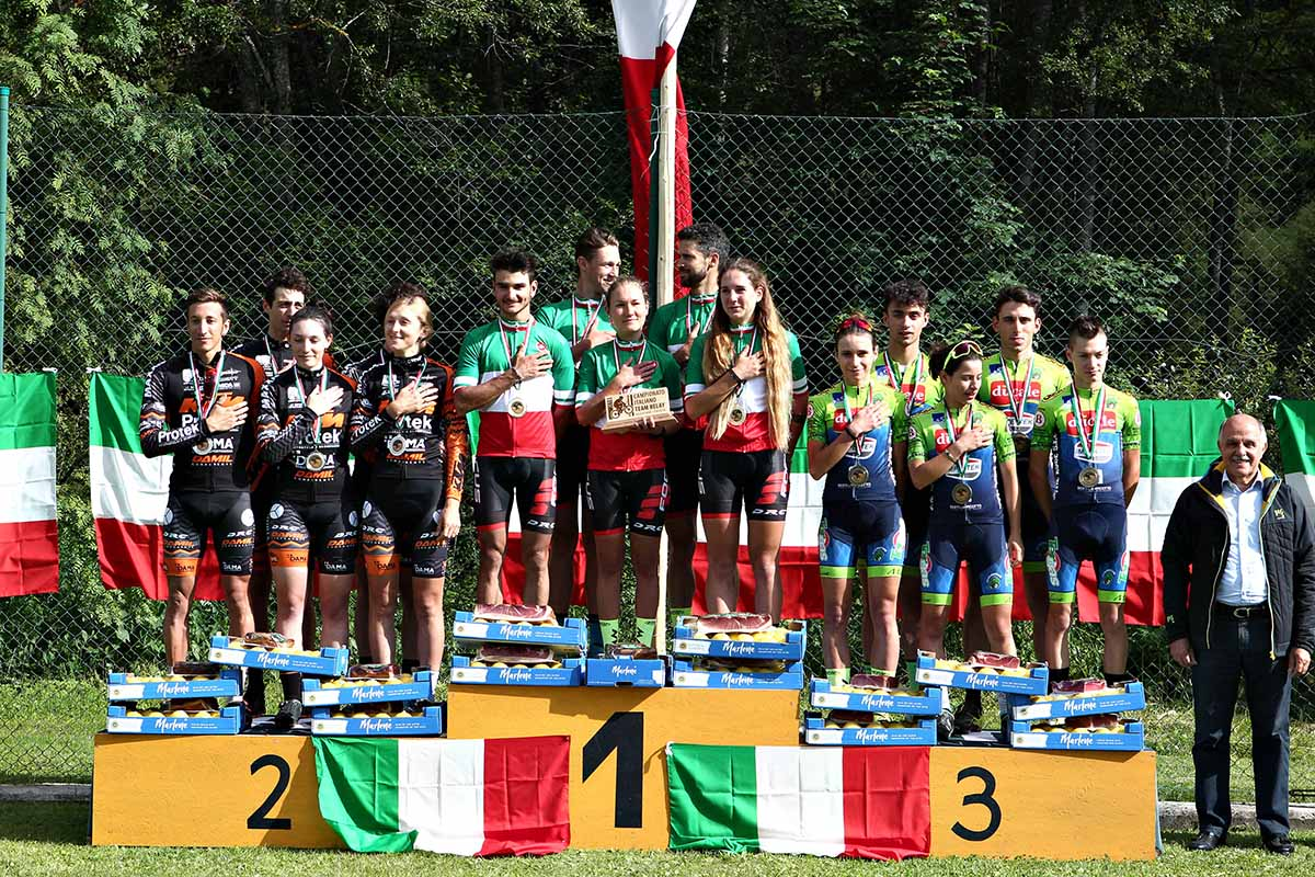 Il podio del Campionato Italiano Team Relay 2018