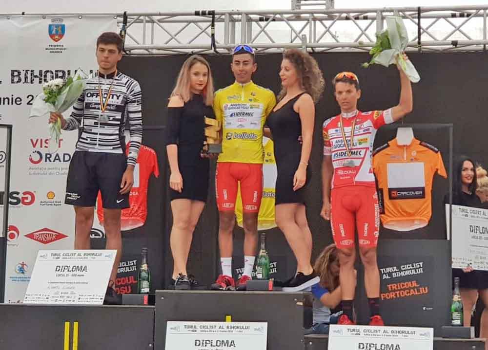 Il podio finale del Tour of Bihor vinto da Ivan Sosa
