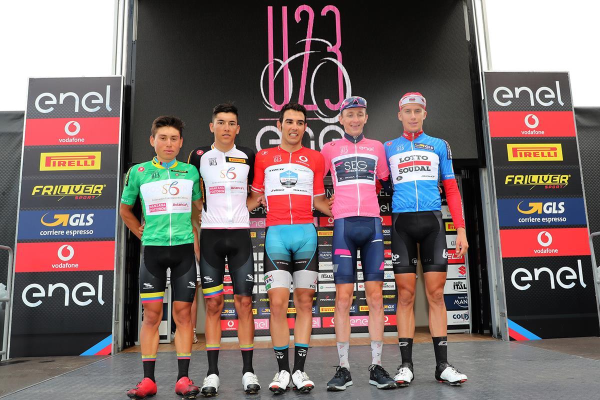 Le maglie dopo la quinta tappa del Giro d'Italia Under 23 2018