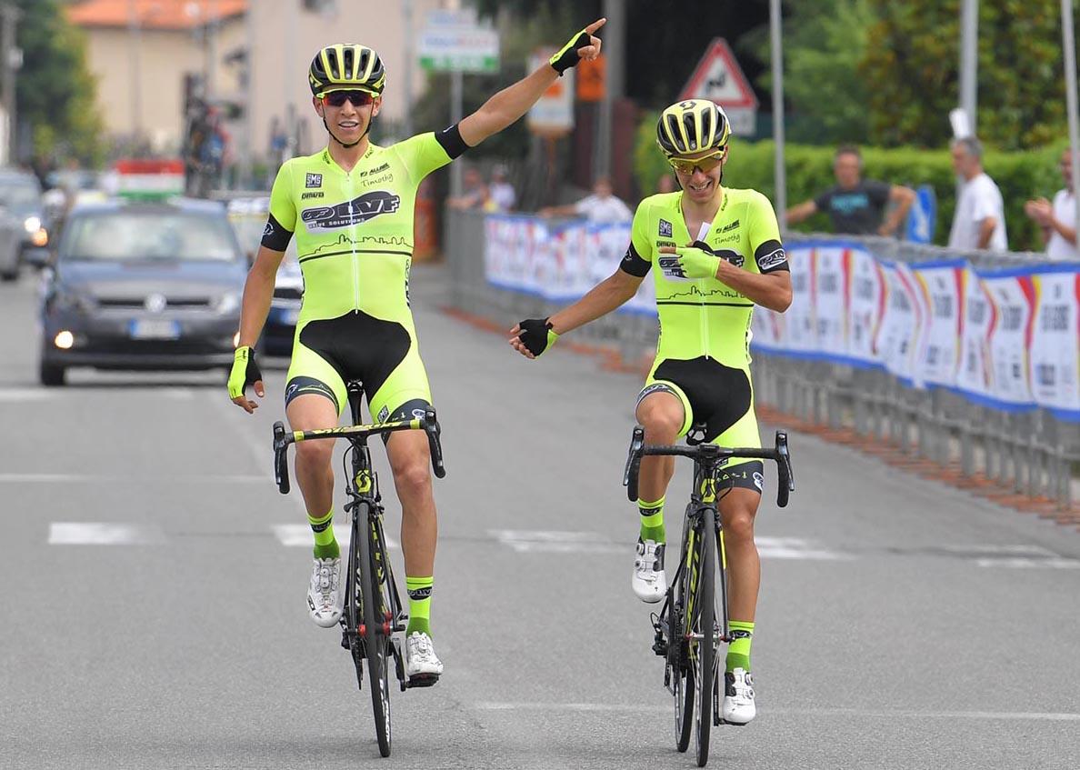 Arrivo in parata ad Albano per Samuele Rubino e Andrea Piccolo del Team LVF