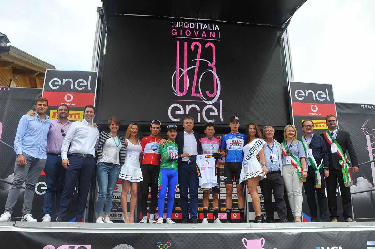 Tutte le maglie del Giro d'Italia U23 dopo la tappa del Maniva