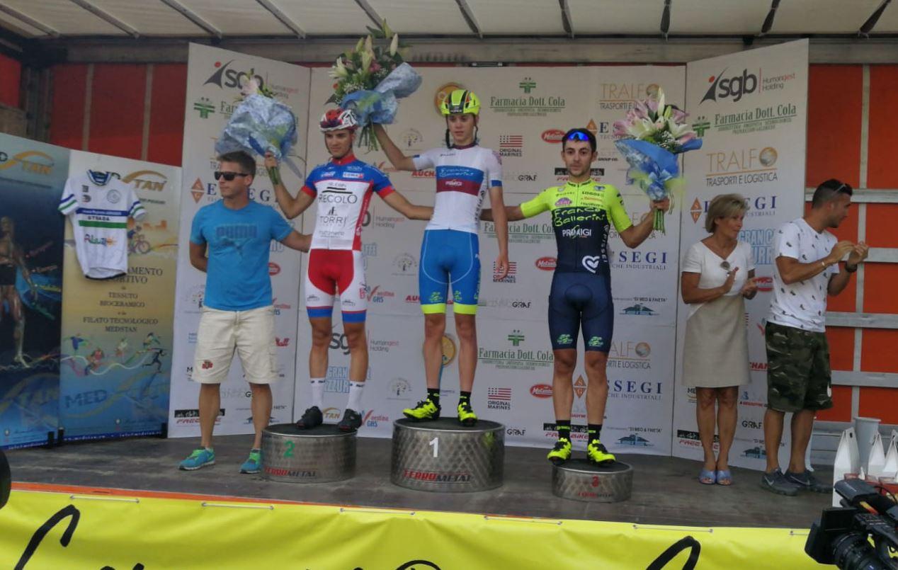 Il podio della gara Juniores di Cepagatti