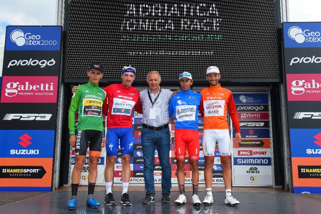 Le maglie finali dell'Adriatica Ionica Race 2018