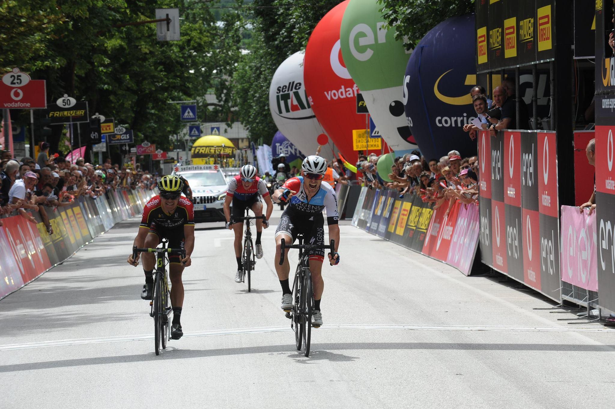 Sean Bennett vince la sesta tappa del Giro d'Italia Under 23 2018