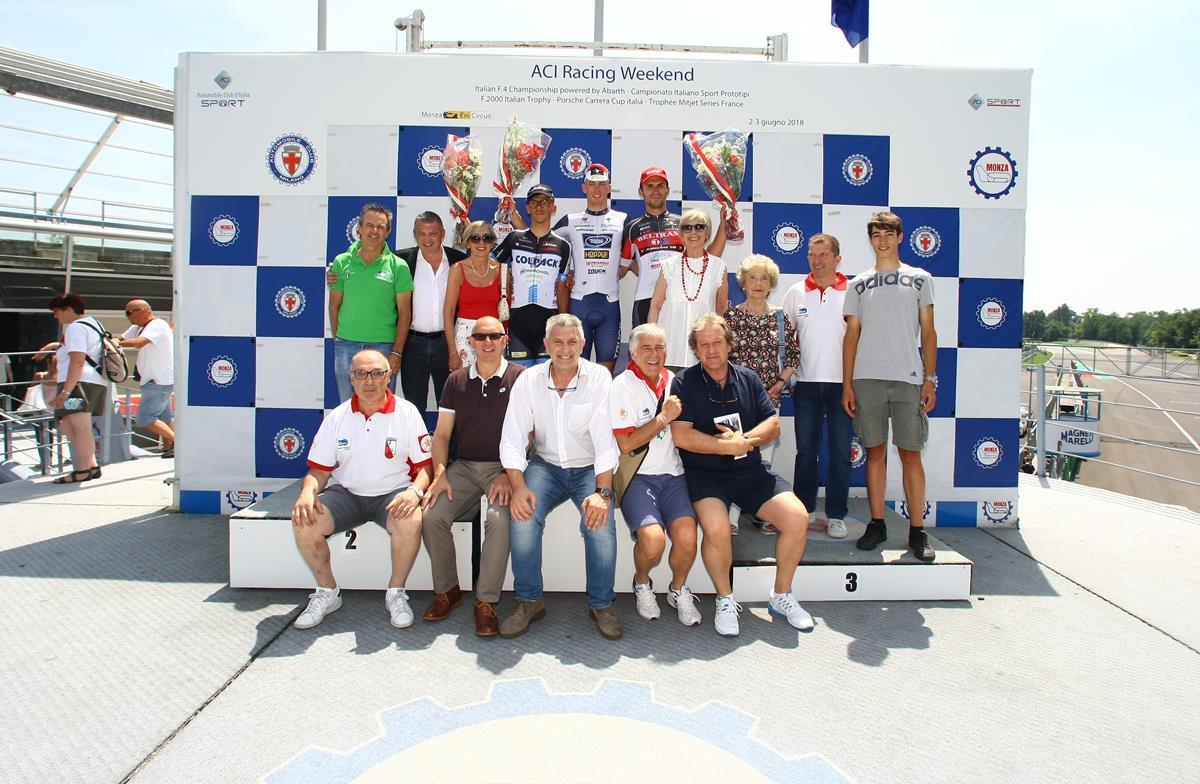 Il podio dell'86/a Medaglia d'Oro Città di Monza