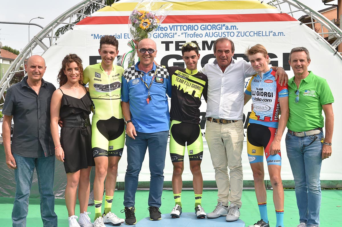 Il podio del Trofeo Vittorio Giorgi 2018
