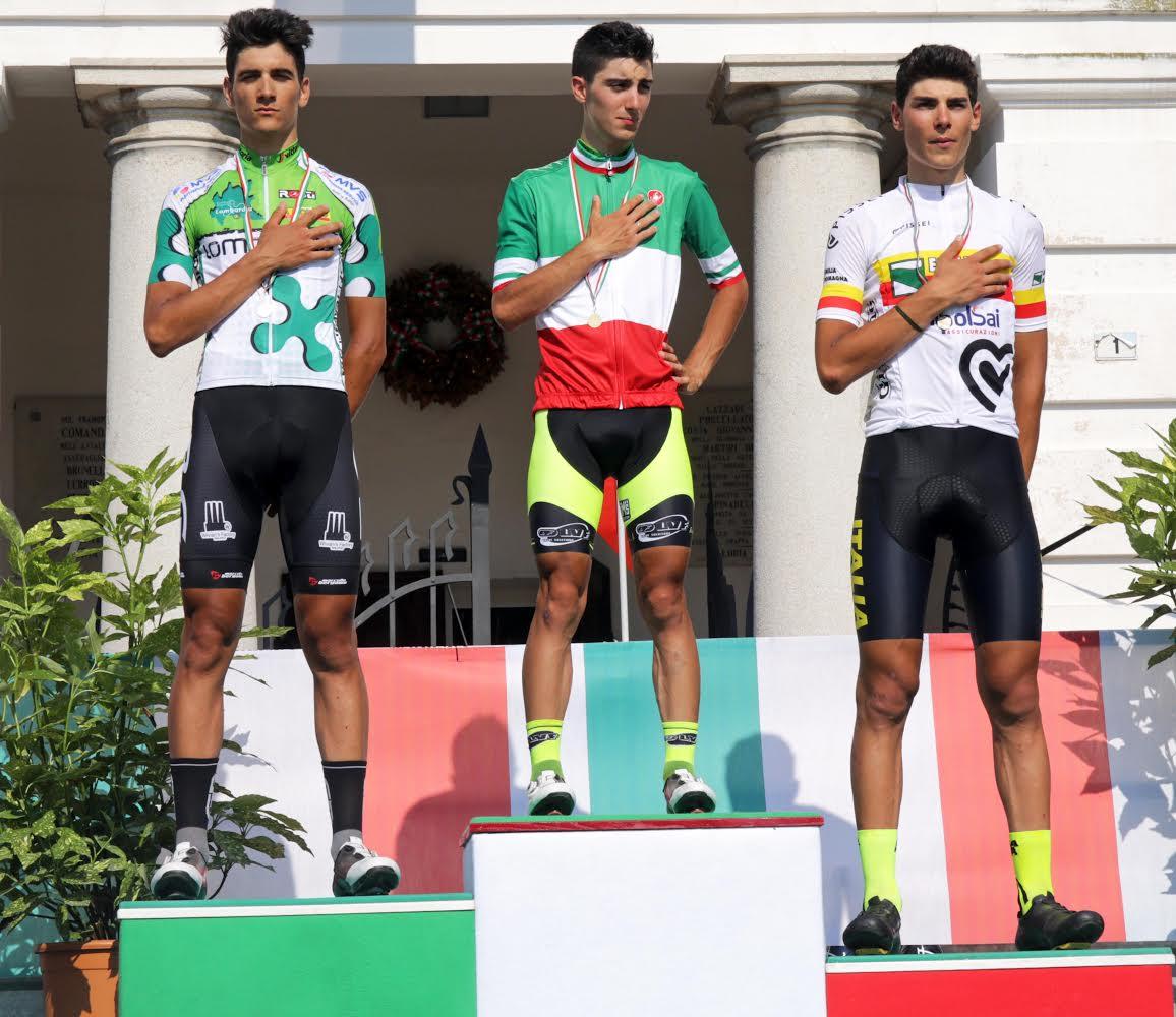 Il podio del Campionato Italiano Juniores 2018 a Loria