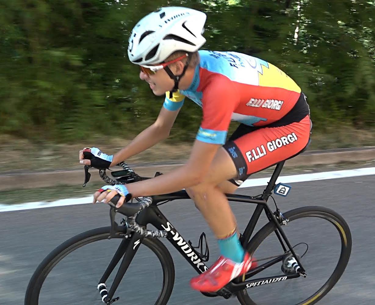Mathias Vacek vince tra gli Allievi la Cronoscalata Bologna - San Luca